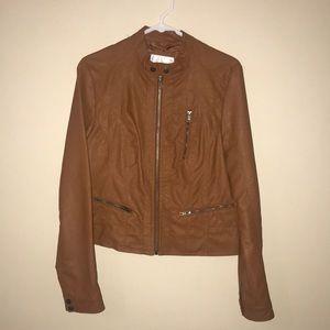 Faux leather jacket. Fits like medium.